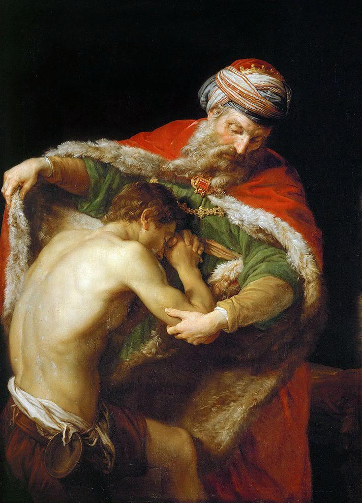 ポンペオ・バトーニ「放蕩息子の帰還」、1723―1987年、美術史美術館所蔵