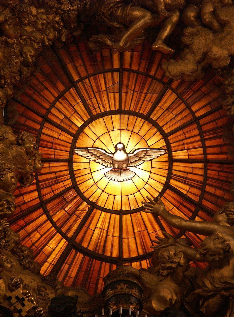 ジャン・ロレンツォ・ベルニーニ「聖霊の鳩」、1660年頃、サン・ピエトロ大聖堂ステンドグラス(バチカン)