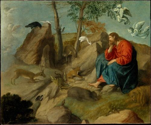 モレット・ダ・ブレシア「野獣の真ん中にいるキリスト」、1515―1517年、メトロポリタン美術館所蔵