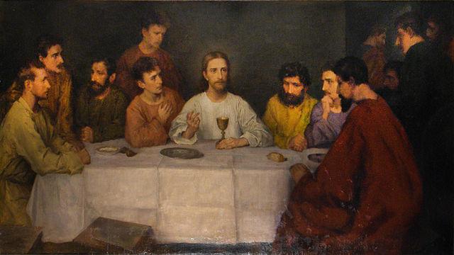 マチルデ・ブロック「晩餐」、1906年、聖アンナ教会(ニエンドルフ)祭壇画