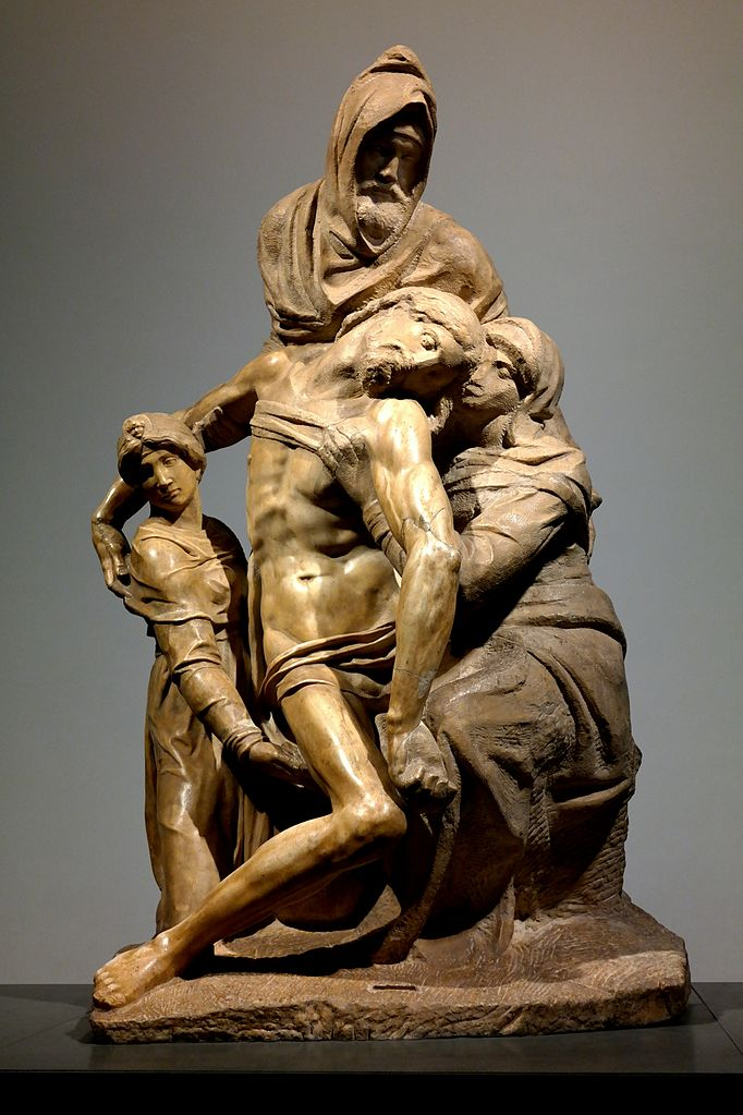 ミケランジェロ「バンディーニのピエタ」、1547-1555年、ドゥオモ付属美術館(フィレンツェ)所蔵