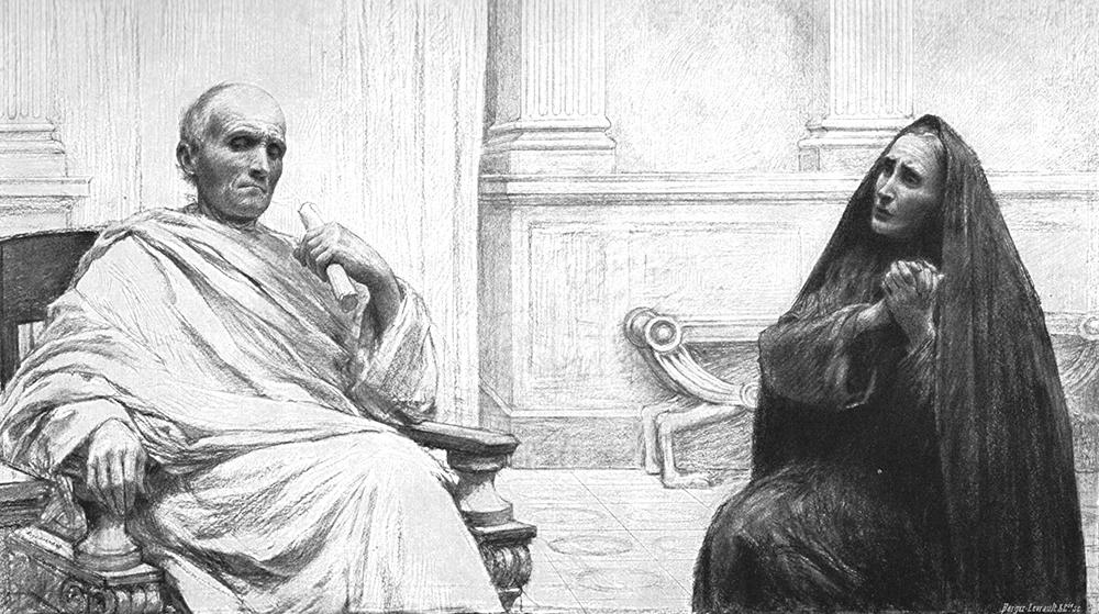 ウヴェーヌ・ビュルナン「不正な裁判官」(『たとえ話』、1908年、ベルジェ・レヴロー社)