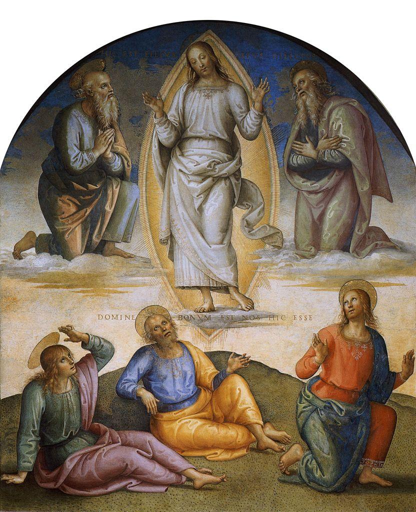 ピエトロ・ペルジーノ「変容」、1496―1500年、コッレージョ・デル・カンビオ