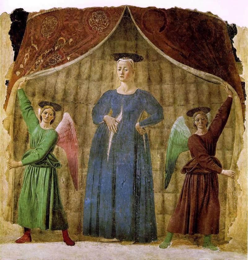 ピエロ・デッラ・フランチェスカ「出産の聖母」、1467年、マドンナ・デル・パルト美術館