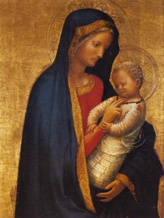 マサッチョ「くすぐりの聖母(カッシーニの聖母)」、1426―27年、ウフィツィ美術館(フィレンツェ)