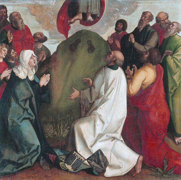 ドミニコ連作のマイスター「キリストの昇天」、1511ー1513年、ゲルマン国立博物館(ニュルンベルク)