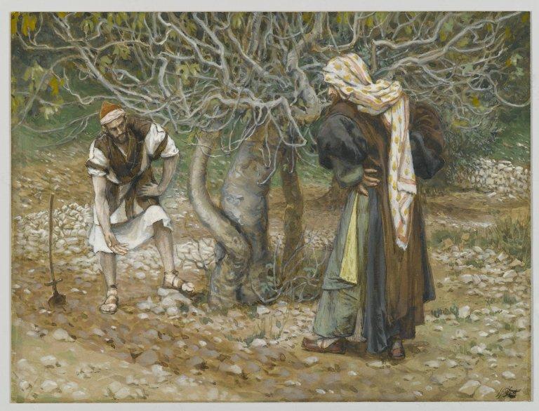 ジェームズ・ティソ「ぶどう園の園亭といちじくの木」、1886―94年、ブルックリン美術館所蔵