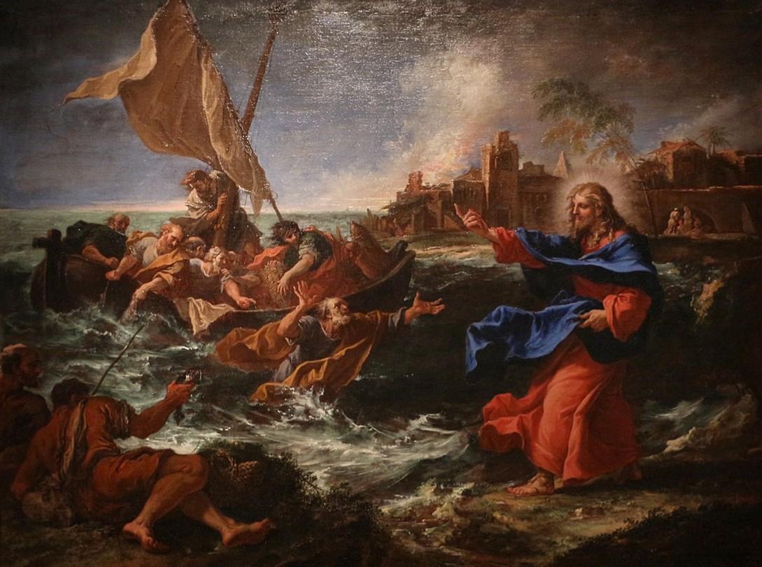 ジャン・ジュヴネ「奇跡の大漁」、1695―97年、デトロイト美術館所蔵