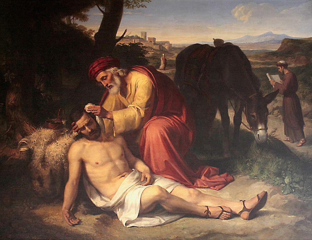ペレグリン・クラベ・イ・ロケ「よきサマリア人」、1838年、聖ジョルディ・カタルーニャ王立美術アカデミー所蔵