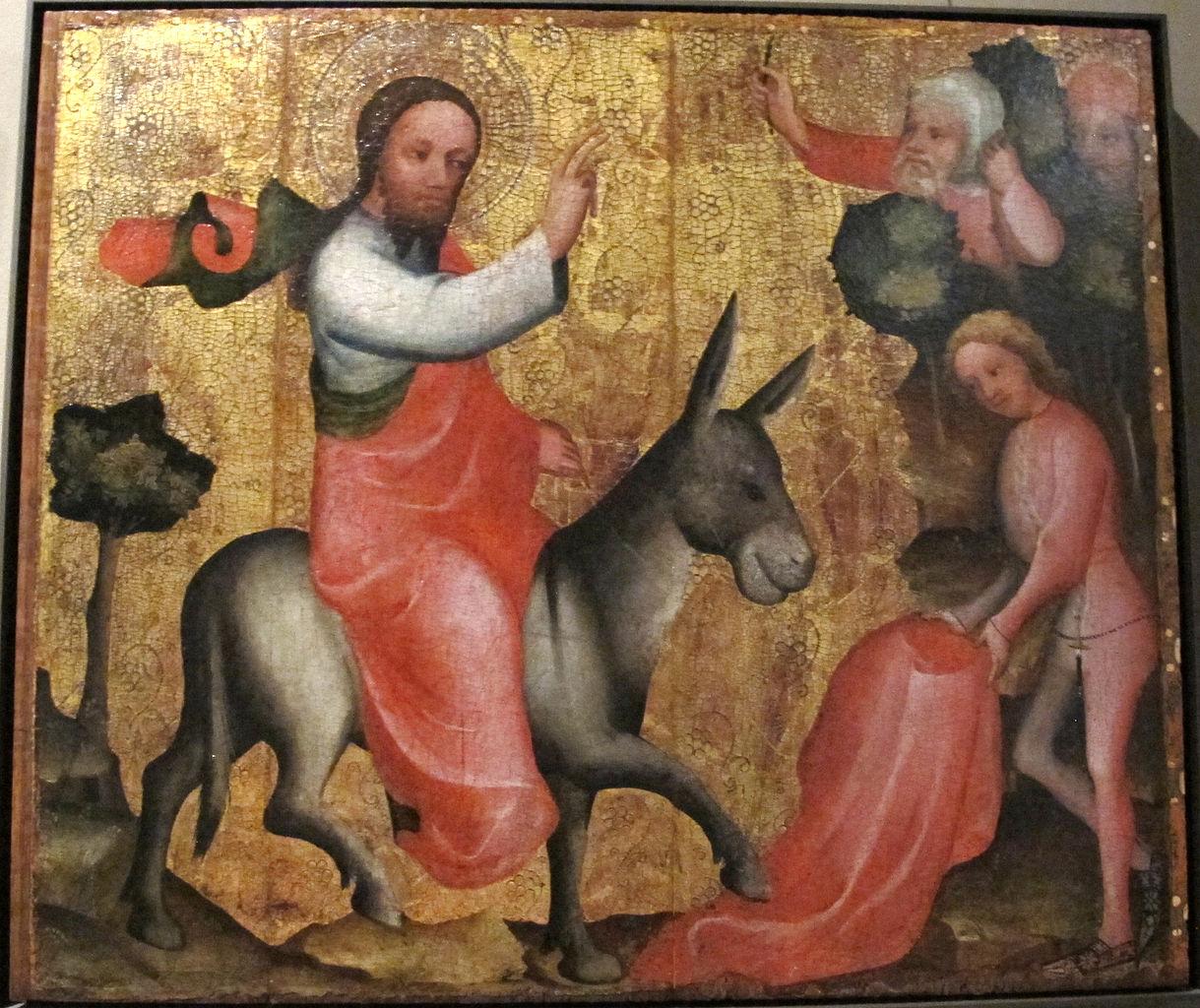 マイスター・ベルトラム「エルサレム入城」、1380―90年、ニーダーザクセン州立博物館所蔵