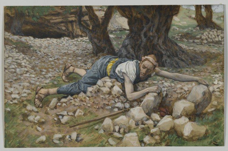 ジェイムズ・ティソ「隠された宝」、1886―1894年、ブルックリン美術館