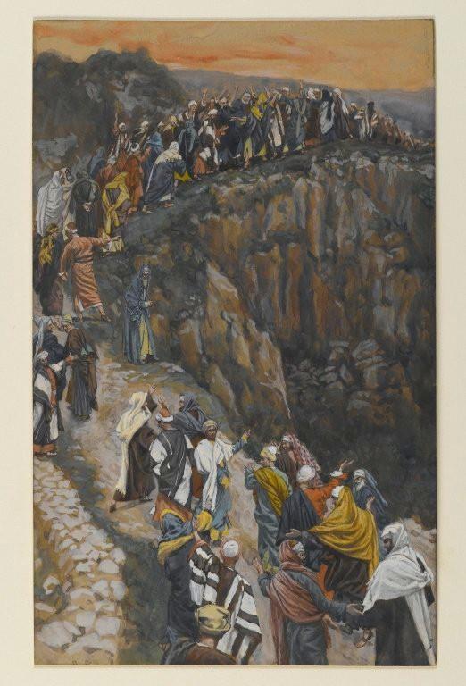 ジェームズ・ティソ「ナザレ近くの丘の頂上」、1886―1894年、ブルックリン美術館所蔵