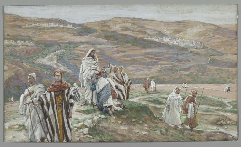 ジェームズ・ティソ「二人ずつ遣わした」、1886−1896年、ブルックリン美術館