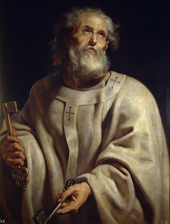 ピーテル・パウル・ルーベンス「教皇としての聖ペトロ」、1610―1612年、プラド美術館所蔵