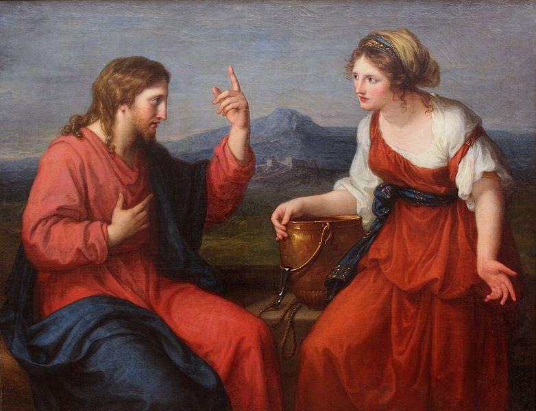 アンジェリカ・カウフマン「井戸端のキリストとサマリアの女」、1797年、ノイエ・ピナコテーク