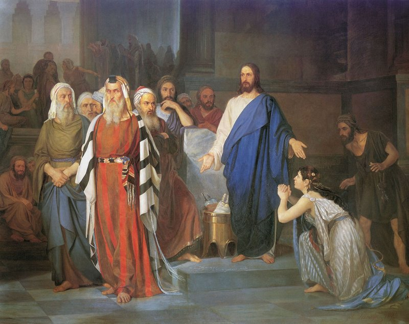 Isaak Asknaziy「イエスと姦淫の女」