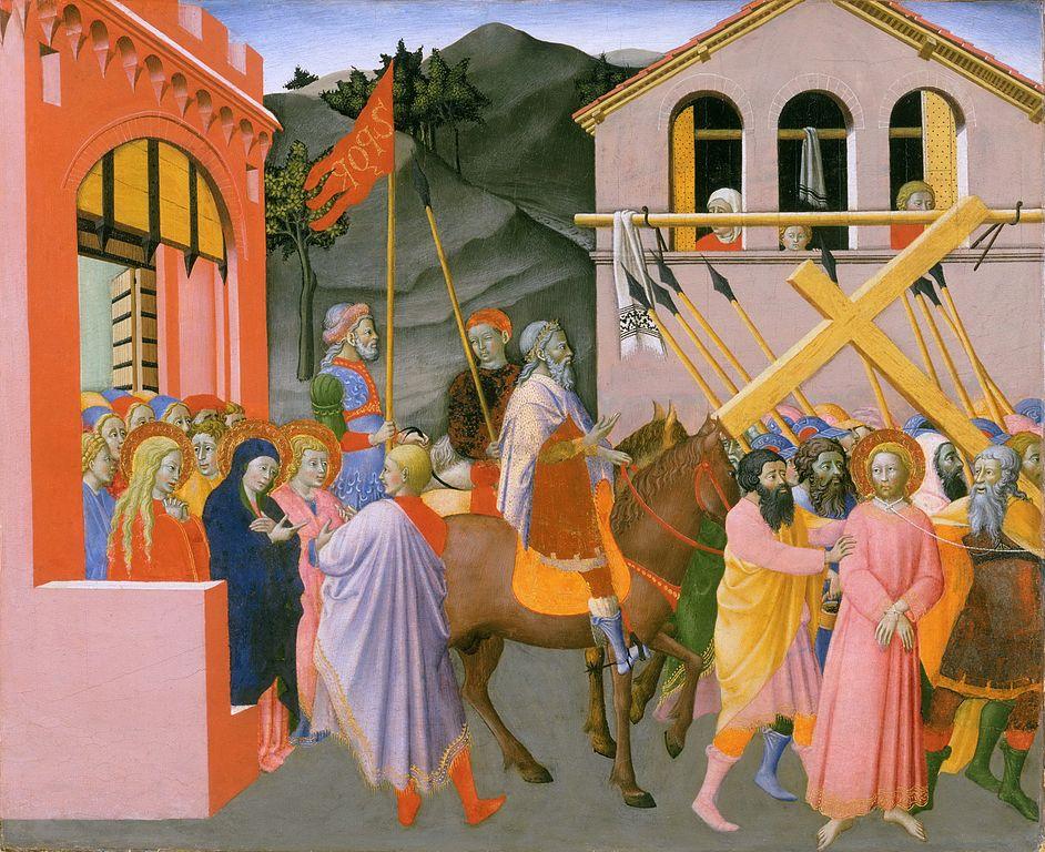 マエストロ・デル・オッセルヴァンツァ「カルヴァリオへの道」、1440―1444年頃、フィラデルフィア美術館所蔵
