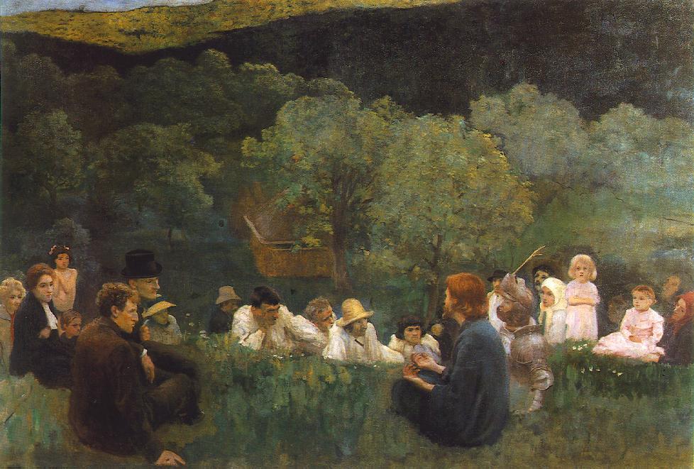 フェレンツィ・カーロイ「山上の説教」、1896年、ハンガリー国立美術館(ブダペスト)