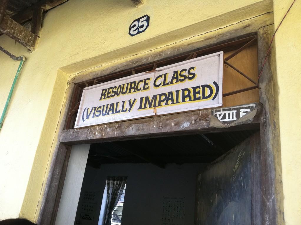 視覚障害児担当の先生が使っている部屋