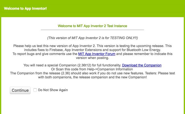 Nueva versión de App Inventor en pruebas! - Tu App Inventor