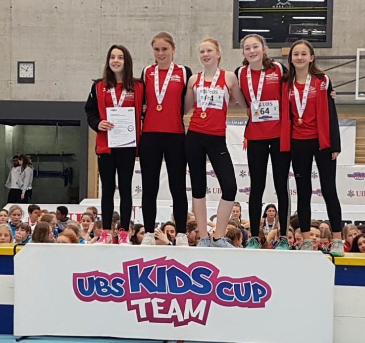 U14 Girls Team mit Glenys Wyss, Sara Augsburger, Sophie Motta, Finia Huggenberger, Uma Bono