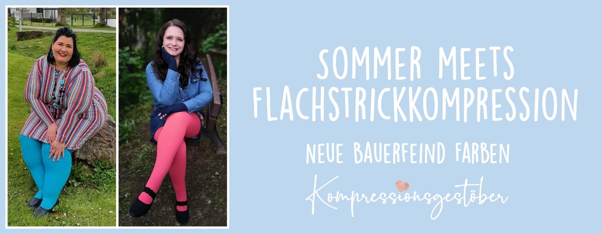 Sommer meets Flachstrickkompression! Neue Farben für den VenoTrain curaflow von Bauerfeind