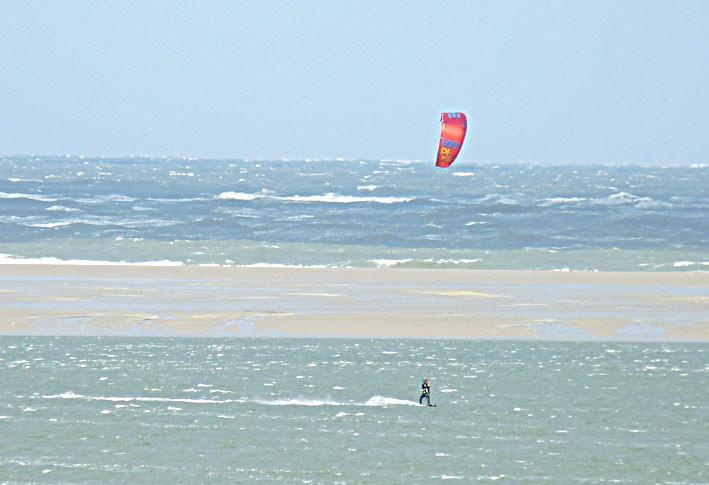 Schönes Revier für Kite-Surfer