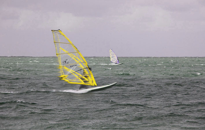 Windsurfer in Aktion