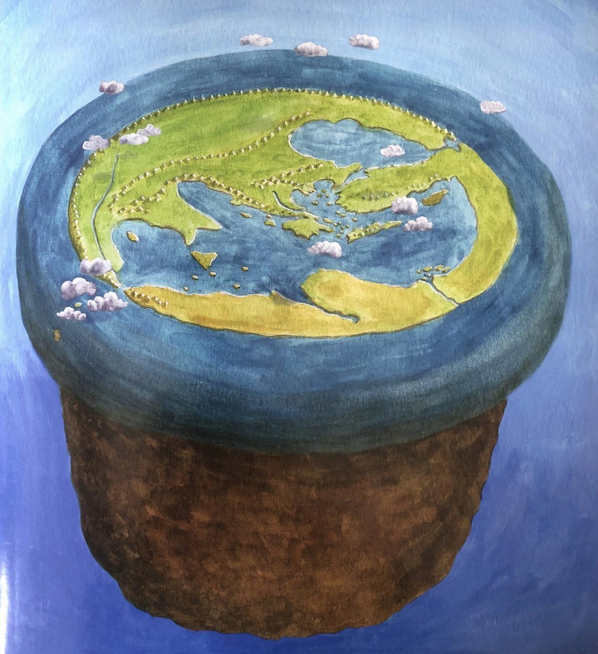 古代ギリシアの哲学者アナクシマンドロスの世界観(Il libro delle Terre immaginate, E'ditions du Seuil 2008)
