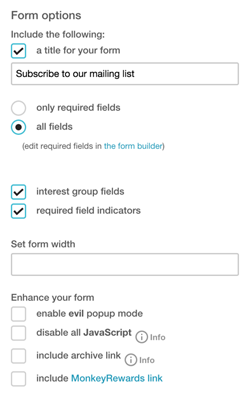 How to add a MailChimp signup form to your website - Jimdo Support ...