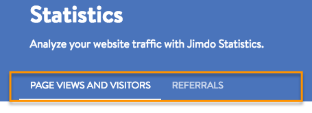 Page Views and Visitors Referrals