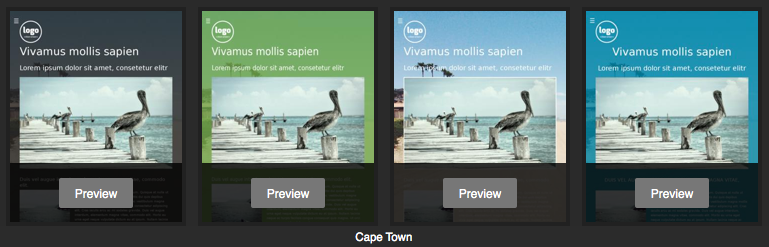 Jimdo template - Cape Town variations