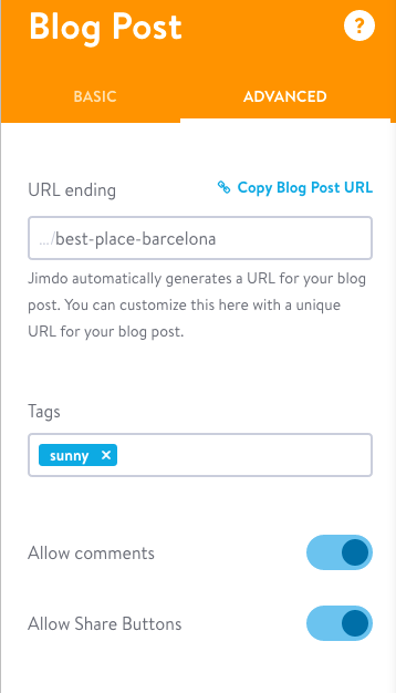 Activate Jimdo comments for a blog post