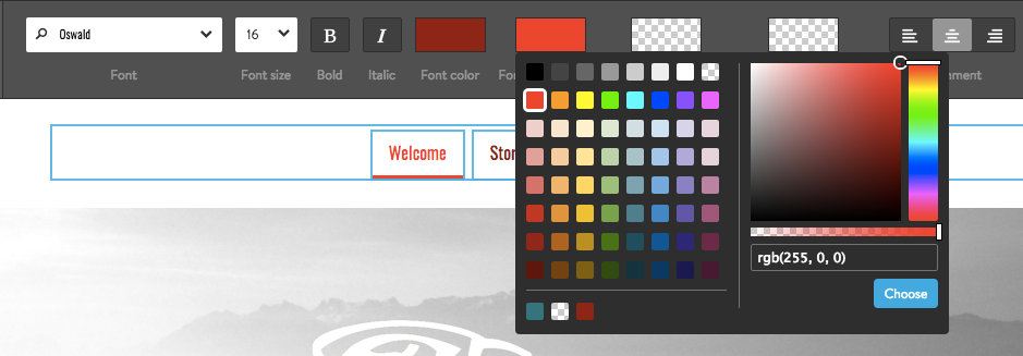 Jimdo Color Picker