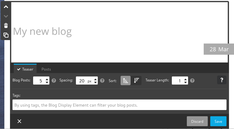 Blog Display Element