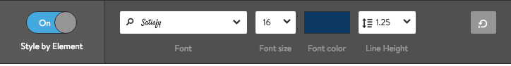 Font Settings for Text Elements