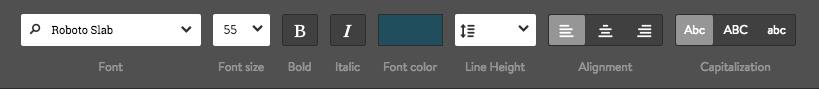 Font settings for Heading Elements