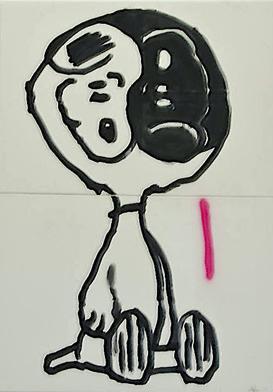 Straßenköter - Mixed Media, 70 x 120 cm