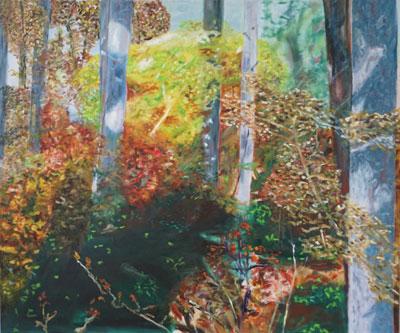 Herbst (Spessart) - Öl auf Leinwand, 120 x 100 cm, 2019