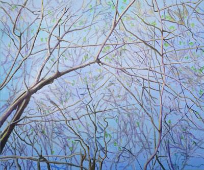 Frühling (Kühkopf) - Öl auf Leinwand, 120 x 100 cm, 2018