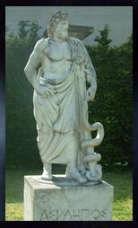 医神 アスクレピオスの像