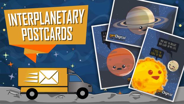 Intersellare Postkarten