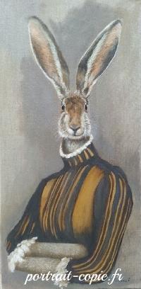 Portrait animalier peinture à l huile, Peinture immaginaire  élaborée à  l aide de photos  et inspirée de tableaux anciens.