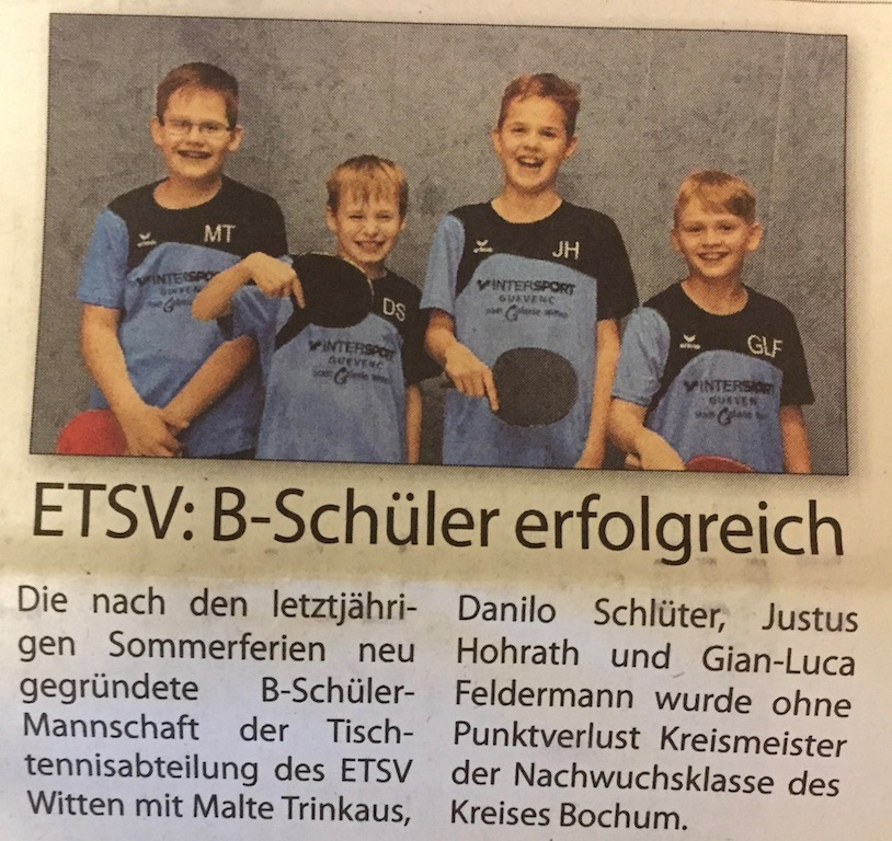 Witten aktuell vom 30.06.18 / Kreismeister