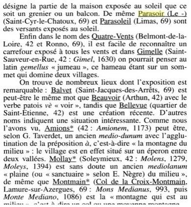 L'origine du nom de Parasoir