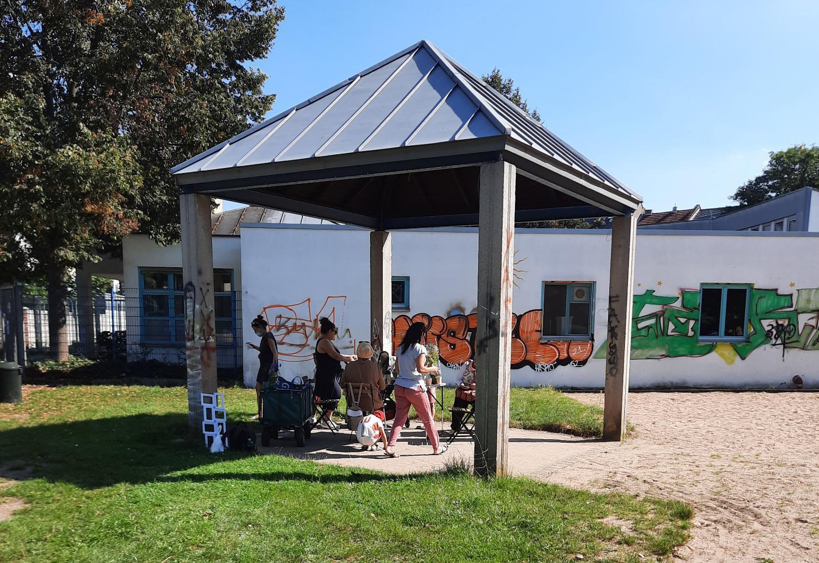 Der Pavillon auf dem Genovevahof