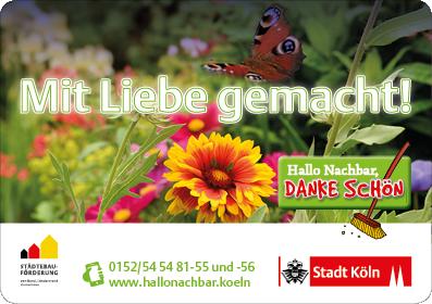 """Beetstecker klein """"Mit Liebe gemacht!"""""""