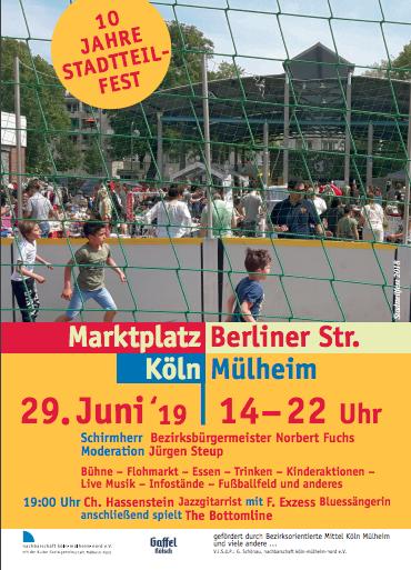 Flyer 10 Jahre Stadtteilfest nachbarschaft mülheim-nord e. v.