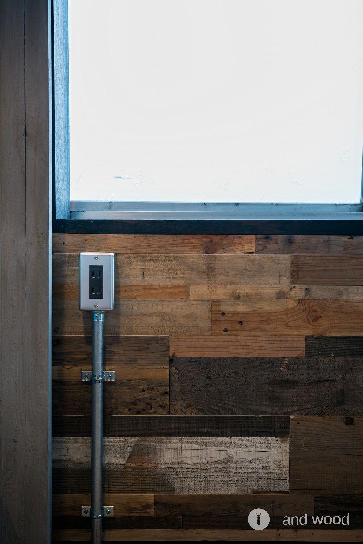 ビンテージボード フローリング パネル 施工例 アンドウッド andwood