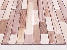 国産 パイン 松 無垢 ユニ フローリング 形状